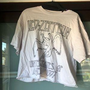 Led Zeppelin crop tee